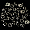 20 Assorted Tibetan Slilver Heart Toggle Clasps